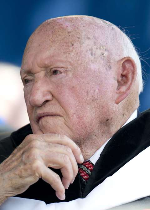 Chick-fil-A founder and Chairman S.Truett Cathy, seen here in 2012, died at his home Sept. 8, 2014, at the age of 93.