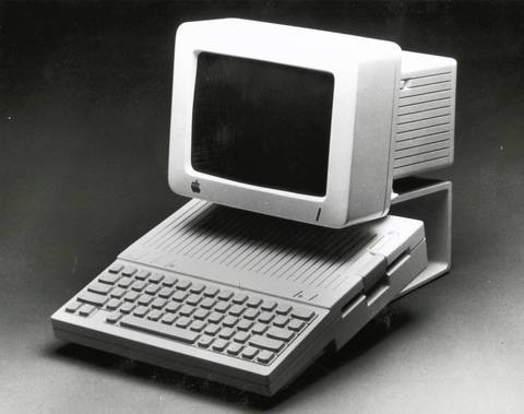 Apple IIc Home computer in 1984.