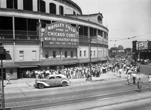"The World's Greatest Rodeo was held at Wrigley Field in June 1946. Called ""Rodeo and Thrill Circus,"" the event included 900 contestants for $50,000 in prize money, Hollywood daredevils, a tribe of Sioux Indians, steeplechase jumping horses, and 16 of America's greatest trick and fancy riders."