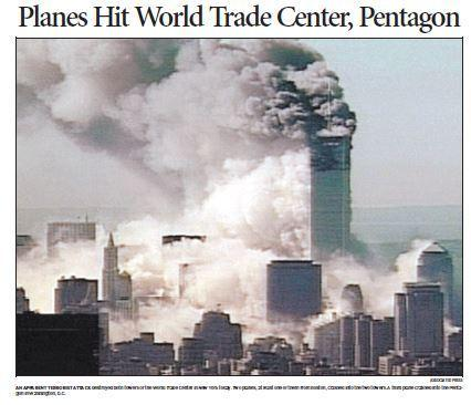 Four commercial airplanes were hijacked on Sept. 11, 2001 by terrorists on suicide missions. Two planes crashed into the World Trade Center towers in Manhattan, the building collapsing shortly after they were struck. Another place struck the Pentagon in Washington D.C. and the last one crashed in a field in Pennsylvania. Almost 3,000 people were killed.