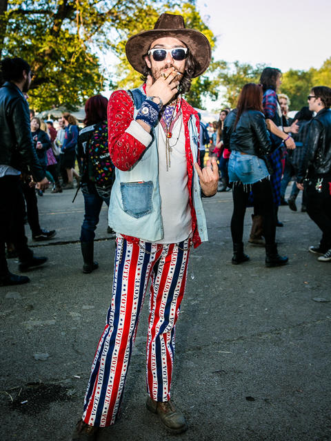 Mike Gamms, 27, from Los Angeles, California at Riot Fest on Sunday, September 14, 2014. (Hilary Higgins for RedEye)