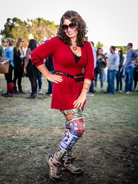 Betsi Pinkus-Huizenga, 30, South Loop at Riot Fest on Sunday, September 14, 2014. (Hilary Higgins for RedEye)