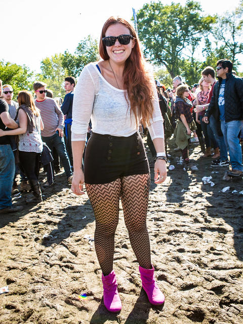 Magdalene Mae, 27 of Rockford, Illinois at Riot Fest on Sunday, September 14, 2014. (Hilary Higgins for RedEye)