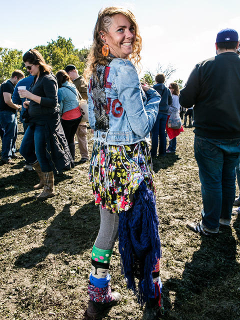 Bethannie Newsom Steelman, 37 of Hot Springs, Arkansas at Riot Fest. (Hilary Higgins for RedEye)