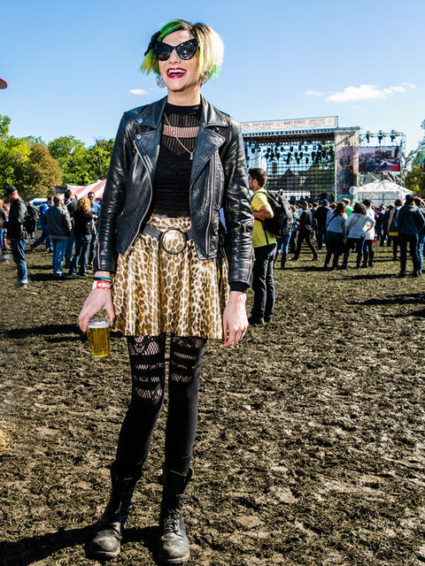 Rachel Eliza Manchester, 32 of New Hampshire at Riot Fest. (Hilary Higgins for RedEye)