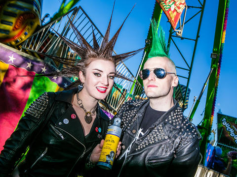 Erin Micklow, 25 and Josef Altmann, 30, of Los Angeles, California at Riot Fest. (Hilary Higgins for RedEye)