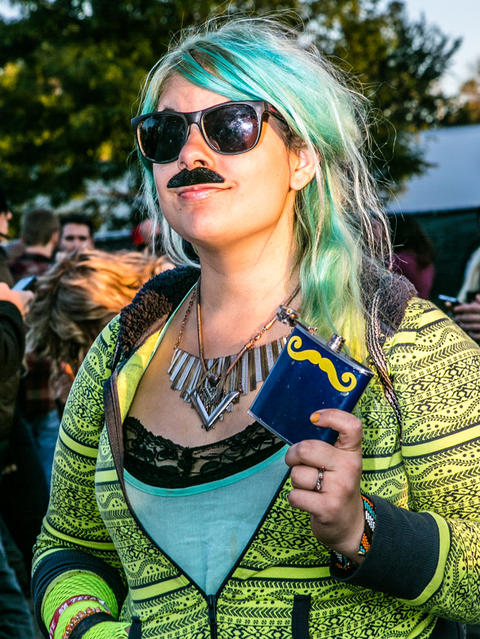 Tina McCarthy, 24 of Logan Square at Riot Fest. (Hilary Higgins for RedEye)
