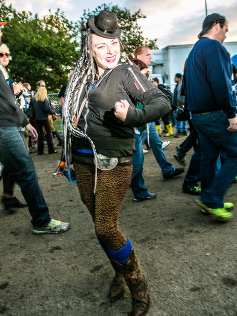 Manny Parker, 27 of Des Moines, Iowa at Riot Fest. (Hilary Higgins for RedEye)