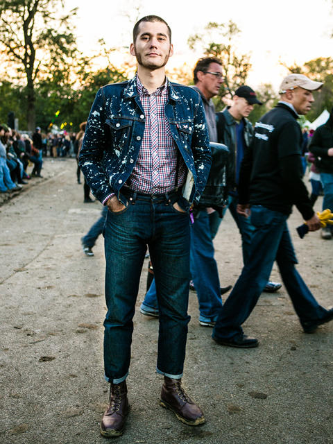 Ben Hjelmstad, 26 of San Francisco, California at Riot Fest. (Hilary Higgins for RedEye)