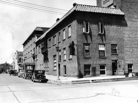 June 15, 1936: The building that houses the Club Arcadia and the Red Parrot Tea Room at 1st Avenue and Walnut Street in St. Charles.