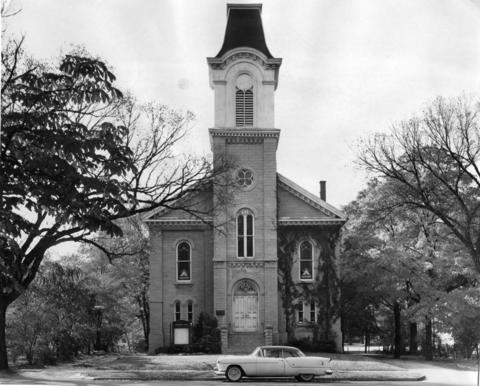 Oct. 7, 1956: Congregational Church of Batavia, erected in 1856.