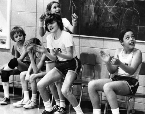 Jan. 18, 1974: Lincoln School's sixth-grade basketball team, known for being gender integrated, has two girls and nine boys in 1974.