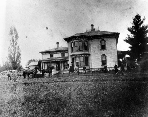 Undated: The John H. Rouse home is the first house in town to have a bathtub. A Walgreens store resides on that land today in Mundelein, Ill.