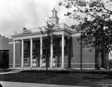 June 8, 1927: Major General Abel Davis and President of the University of Chicago Max Mason were keynote speakers at the dedication ceremony of the new Glencoe Auditorium, which cost $200,000 to build.
