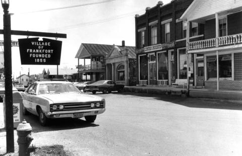 "Aug. 22. 1970: Downtown Frankfort lives up to the village's slogan as ""the community with 1890's charm."""