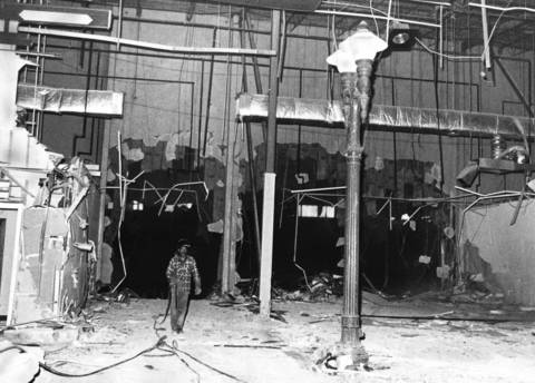 Feb. 3, 1986: Demolition of Old Chicago, a now-vacant shopping center and indoor amusement park, is underway.