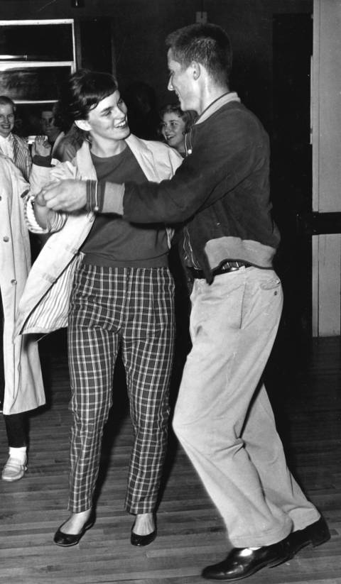 May 4, 1958: Jim Long and Sharon Murphy dance at the Corral in Western Springs.