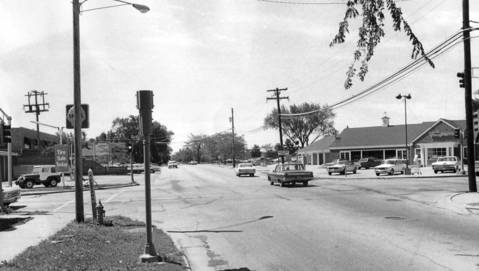 July 11, 1971: Officials from Western Springs, La Grange and the state settle on the widening of Gilbert Avenue, as seen from 47th Street, in Western Springs.