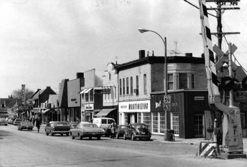 March 24, 1972: Shot looking west on Main Street at Hough Street.