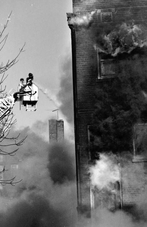Dec. 19, 1989: Firefighters work on battling a blaze at Lipofsky's Department Store, a Barrington landmark. While no one was injured, the fire caused more than $1 million in damage.