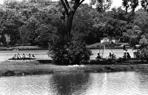 Sept. 15, 1983: Shot of Tower Lakes taken along East Gateway Drive.
