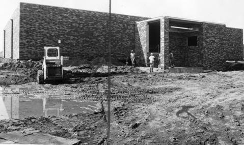 Nov. 27, 1977: Hawthorn Courts, under construction in the new Century Town, will have eight racquetball courts with the capability of expanding to 12.