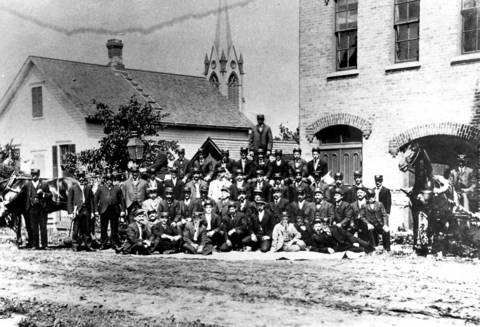 September, 1898: The Niles Center Volunteer Fire Department.