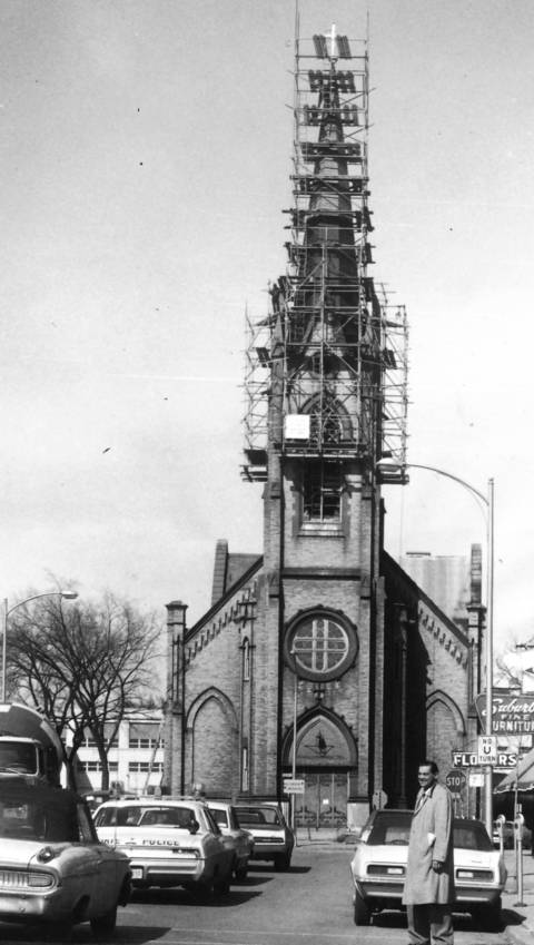 March 17, 1968: St. Peter's Catholic Church is getting a facelift in preparation for its centennial celebration.