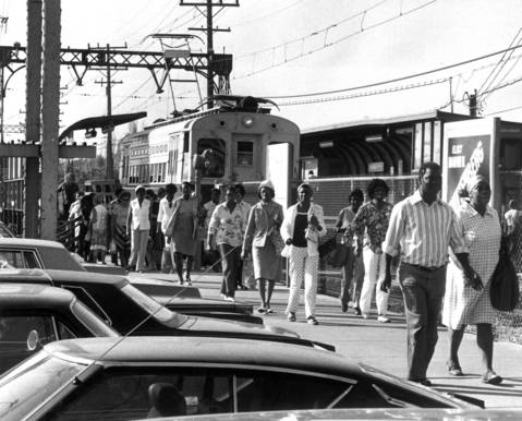 Sept. 11, 1978: Nortran drivers went on strike, which led many people at the Skokie Swift station to wait for private driver rides or taxis in lieu of buses.