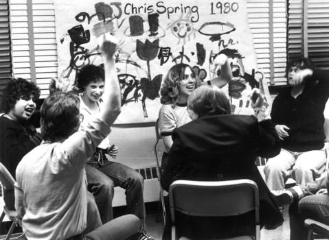 April 15, 1980: Jim Radloff 's Creative Arts class acts out songs and plays.