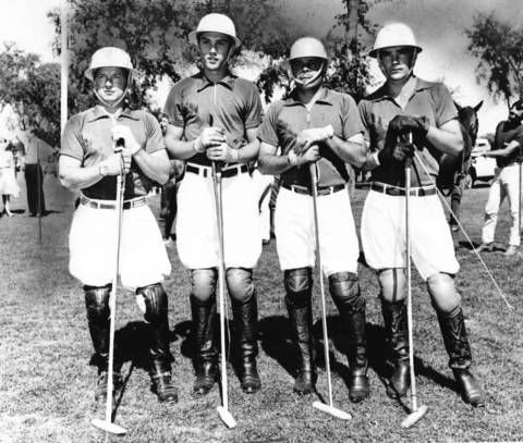 Sept, 6, 1964: (From left) Buddy Linfoot, Charles Smith, Julio Muller and Jack Murphy of the Oak Brook polo team pose for a picture.