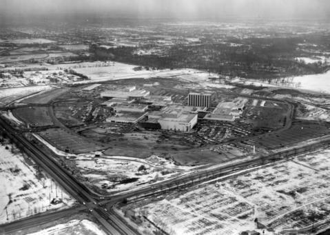 March 4, 1962: An aerial view of Oakbrook Center as it nears completion.