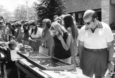 July 17, 1971: Shoppers check out a jewelry exhibit at Oakbrook Center.
