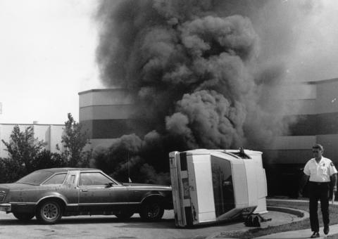 July 17, 1991: Elk Grove Village ran Operation Tailspin, a realistic exercise complete with a billowing smoke plume, simulating a traffic accident in an industrial park that caused a release of dangerous fumes.