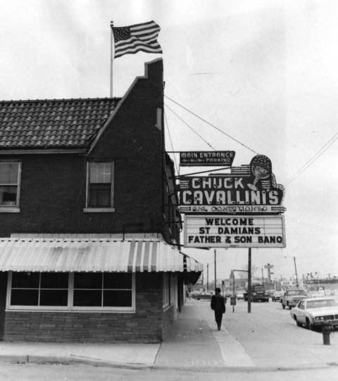 Nov. 18, 1969: Old Glory flies atop Chuck Cavallini's restaurant, 3835 W. 147th St., Midlothian.