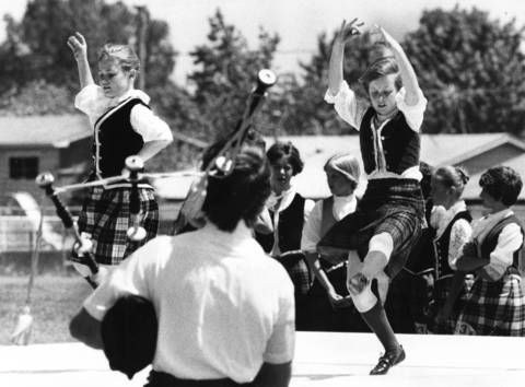 June 10, 1978: Dancers perform at the sixth annual Midlothian Highland Games.