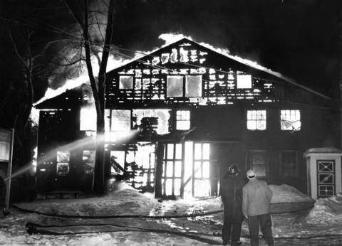 Feb. 12, 1959: A fire rips through Deerfield Millwork Company.
