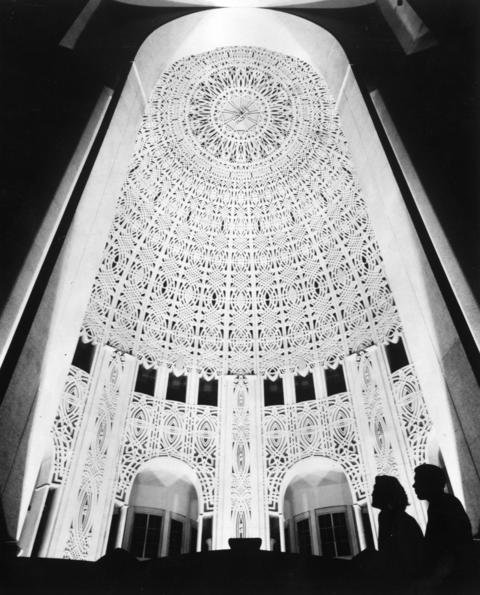 Jan. 8, 1952: An interior view of the dome.