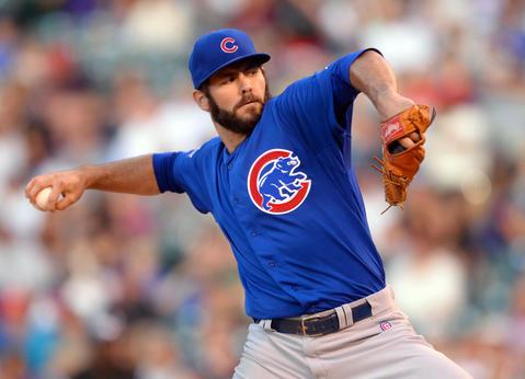 Cubs starting pitcher Jake Arrieta.