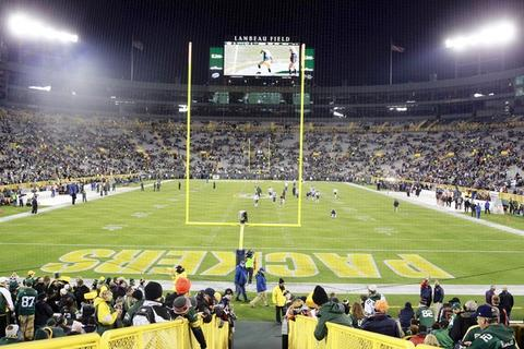 Lambeau Field before the start of Monday's game.