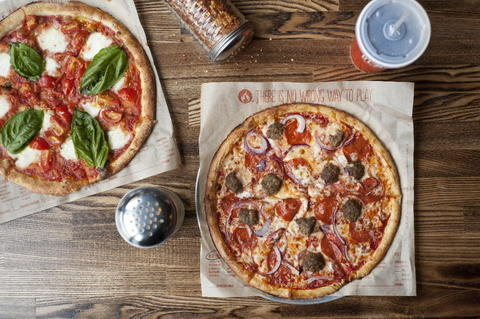 The Red Vine and Meat Eater pizzas at Blaze Pizza. (953 W. Belmont Ave.)