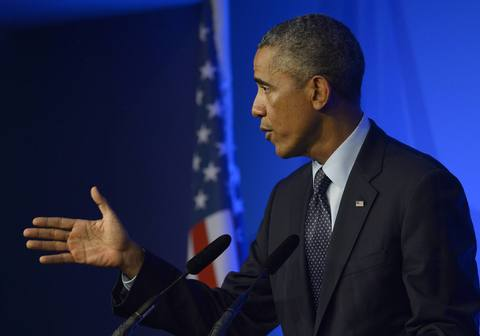 President Barack Obama speaks during a news conference on the second and final day of the NATO summit in Wales September 5.