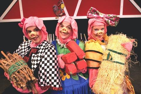 """Monday, Nov. 3: """"THREE LITTLE PIGS"""" Think you know the story of the porcine home builders and their lupine nemesis? Not like this, you don't: Chicago Kids Company puts a fun new spin on the story in this hourlong musical version. Meet Petunia, the pretty pig who builds with straw; Roxanne, the rock 'n' roll pig who builds with wood; and Babe, the practical pig smart enough to use bricks. Where: Stahl Family Theater (inside St. Patrick's High School), 5900 W. Belmont Ave. (773-205-9600, chicagokidscompany.com)When: 10:30 a.m.Cost: $12"""
