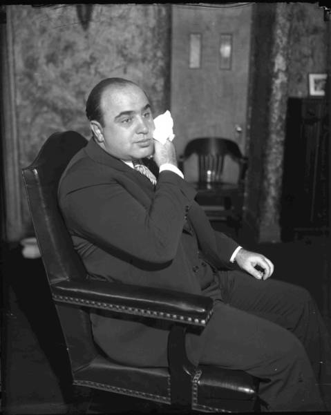 Al Capone in October of 1931.