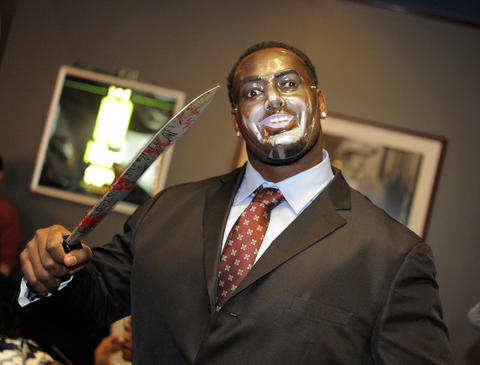 Ravens' Arthur Jones at the 14th Annual Goodwill Gridiron Halloween Party.