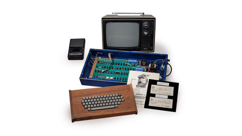 A fully operational Apple computer that company co-founder Steve Jobs sold out of his parents' garage in 1976 for $600 is seen in this undated handout picture courtesy of Christie's.