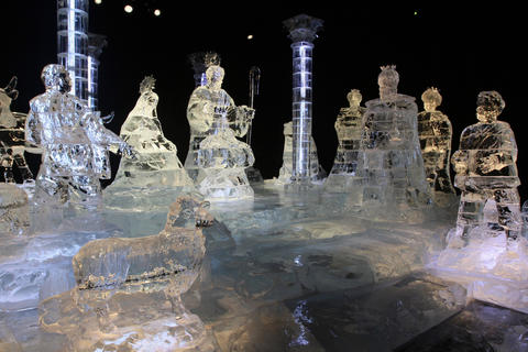 A frozen family experience hand-carved from nearly 2 million pounds of ice transformed into a frosty winter wonderland of interactive environments and larger-than-life, three-dimensional holiday scenes and sculptures, all hand-carved by a team of international artisans from Harbin, China. Returning are two-story ice slides and (brrrrr) 9-degree temps. Dress accordingly. 407-586-4-ICE (423) for more information.