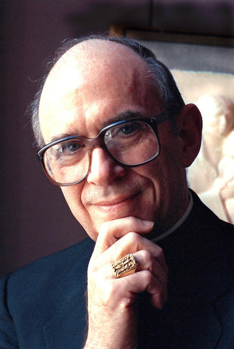 Cardinal Joseph Bernardin in his archdiocese office in Chicago on Aug. 19, 1987.