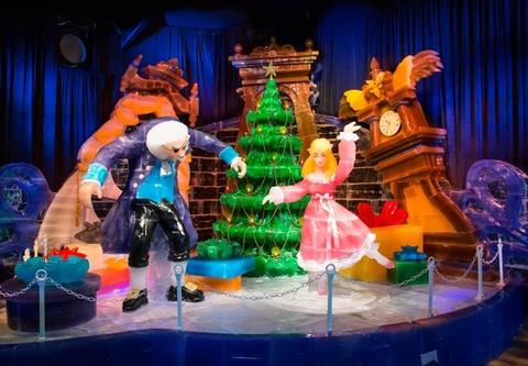 The annual ICE! attraction at Gaylord Palms Resort in Orlando has a Nutcracker theme for 2014.