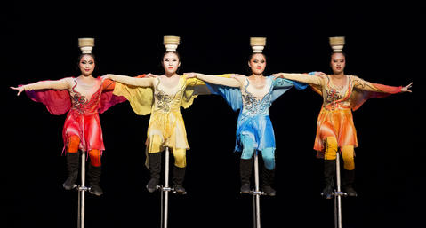 Staff Photo Of The Week: Nov 1-Nov 7, 2014     Performers ride unicycles while balancing bowls on their heads as National Acrobats of the People's Republic of China entertain a crowd at the Ferguson Center for the Arts on Monday night.